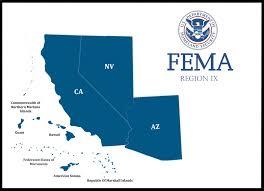fema region map fema region ix arizona california hawaii nevada the pacific