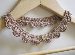 crochet necklace patterns images Pin by umla on crochet pinterest crochet crochet necklace and jpg