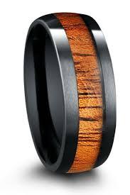 mens wood wedding bands mens wood grain wedding band matvuk