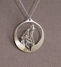 wolf necklace pendant images Howling wolf necklace women pendant silver moon jewelry dire dog jpg