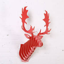 Christmas Moose Home Decor Discount Wooden Moose Head Wall Decoration 2017 Wooden Moose