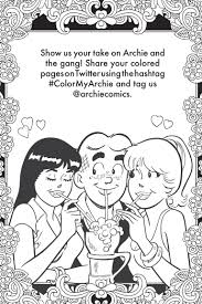 look inside archie u0027s coloring book previews world
