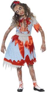 girls zombie country fancy dress costume fancy me limited