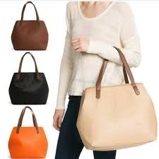 mng by mango mng mango basic effect shoulder shopper tote bag for on carousell