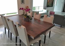Modern Dining Room Tables Modern Wood Dining Table Edges Stainless Steel