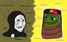 Dank Memes Meaning - trump vs sanders pepe the frog know your meme