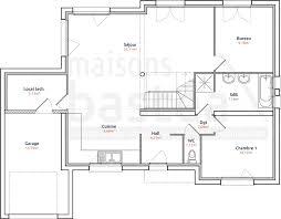 plan maison etage 4 chambres 1 bureau aurelia plan maison cubique moderne rdc par maisons bastea plans