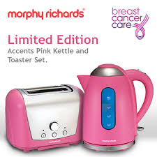 Morphy Richards Kettle And Toaster Set Support Breast Cancer Care With A Pretty Pink Kettle And Toaster