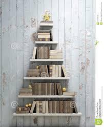 bookshelf shaped christmas tree background stock illustration