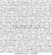 cartoon hand drawing cars seamless pattern stock vector 379716334