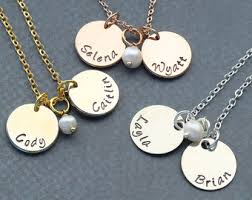 childrens gold necklace child name necklace etsy
