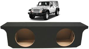 jeep wrangler speaker box jeep wrangler unlimited 07 13 dual 10 bass speaker subwoofer
