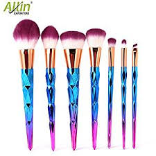 Make Up Ql allin exporters unicorn colorful makeup brushes thread rainbow