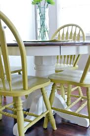 Painted Oak Dining Table And Chairs Use Diy Chalk Paint To Refinish An Old Oak Table And Chairs Best