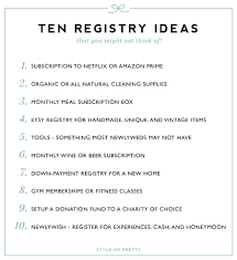 items for a wedding registry style me pretty registry guide