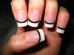 one accent nail in this design different color french different