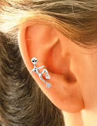 ear cuff piercing non pierced cling on sterling silver wrap on ear cuff