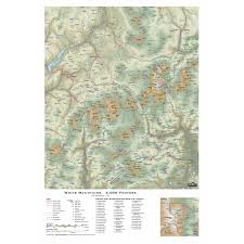 Wall Map Of Usa by White Mountains 4000 Footers 3d Wall Map Amc Store Appalachian
