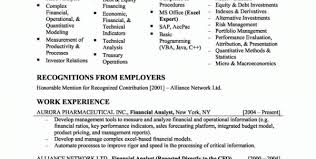 Financial Analyst Job Description Resume by Derivatives Analyst Cover Letter