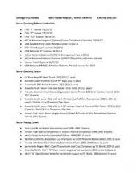 Coaching Resume Template Soccer Resume Templates For Microsoft Word Soccer Best Resume