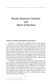 reader response criticism and heart of darkness springer