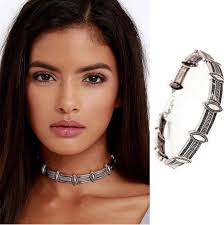 silver metal choker necklace images Antique metal choker antique silver or gold boho queen jewelry png