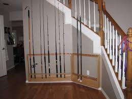 fishing rod rack diy includes pictures and steps fishing