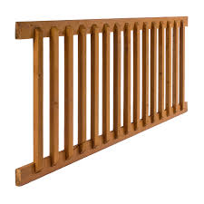 Premade Banister Deck Rails Lowes Freedom Assembled 5 89 Ft X 2 75 Ft New Castle