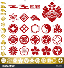japanese traditional elements set illustration vector stock vector