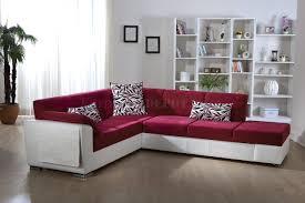 Two Sofa Living Room Two Tone Pink U0026 White Convertible Sectional Sofa W Storage