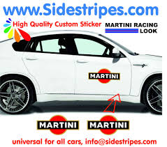 martini racing martini racing side stripe u0026 logo decal sticker set for all