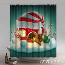 Snowman Curtains Kitchen New Products Star Unique Shower Curtains