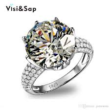 zircon wedding rings images 2018 visisap white gold color ring crown aaa cubic zircon wedding jpg