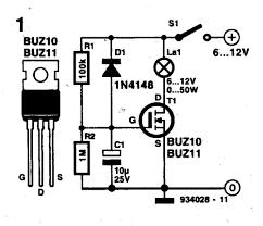 halogen light switch circuit