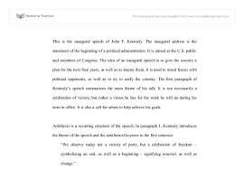 the inaugural speech of john f kennedy gcse history marked