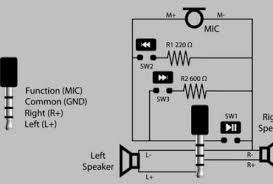 microphone correct schematic for a headphone with inline