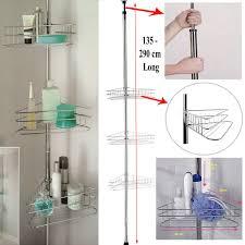 3 Tier Bathroom Stand by Deluxe 3 Tier Adjustable Bathroom Corner Shelves Shower Storage