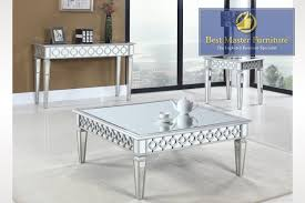 Sofa End Table by Mirrored Tables Best Master Furniture