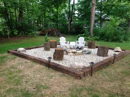 Firepit Rocks River Rock Pit Pit Ideas