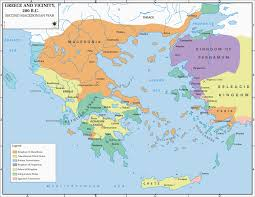 Greece Map Europe by Map Of Greece And Vicinity 200 Bc