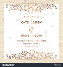 Wedding Invitation Card Samples Save Date Wedding Invitation Card Template Stock Vector 451926772
