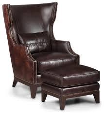 Accent Chair And Ottoman Simon Li Paisley Leather Accent Chair And Ottoman Armchairs And