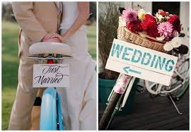 bicycle wedding theme bravobride