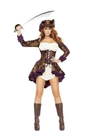 Halloween Costumes Lingerie 3pc Classy Pirate Costume Escape Halloween Costumes Yourlamode