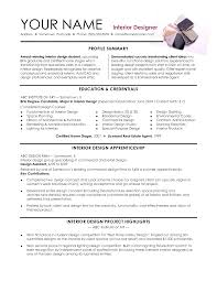 Job Resume Keywords by Resume For Interior Designer Resume For Your Job Application