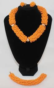 african beads necklace images Beautiful orange choker with earrings african beaded necklace jpg