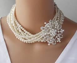 pearl necklace chokers images Bridal necklace wedding necklace swarovski choker necklace jpg