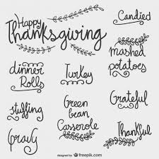 thanksgiving lettering vector free