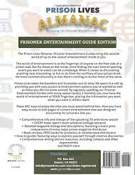 2016 fall prisoner entertainment guide prison lives almanac