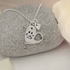 pet memorial necklace pet memorial jewellery on heart jewellery
